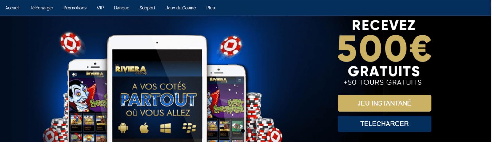 riviera casino interface